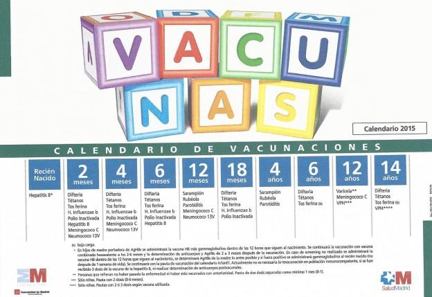 Calendario Vacunacion 2015